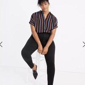 Madewell Curvy High Rise Skinny Black Jeans
